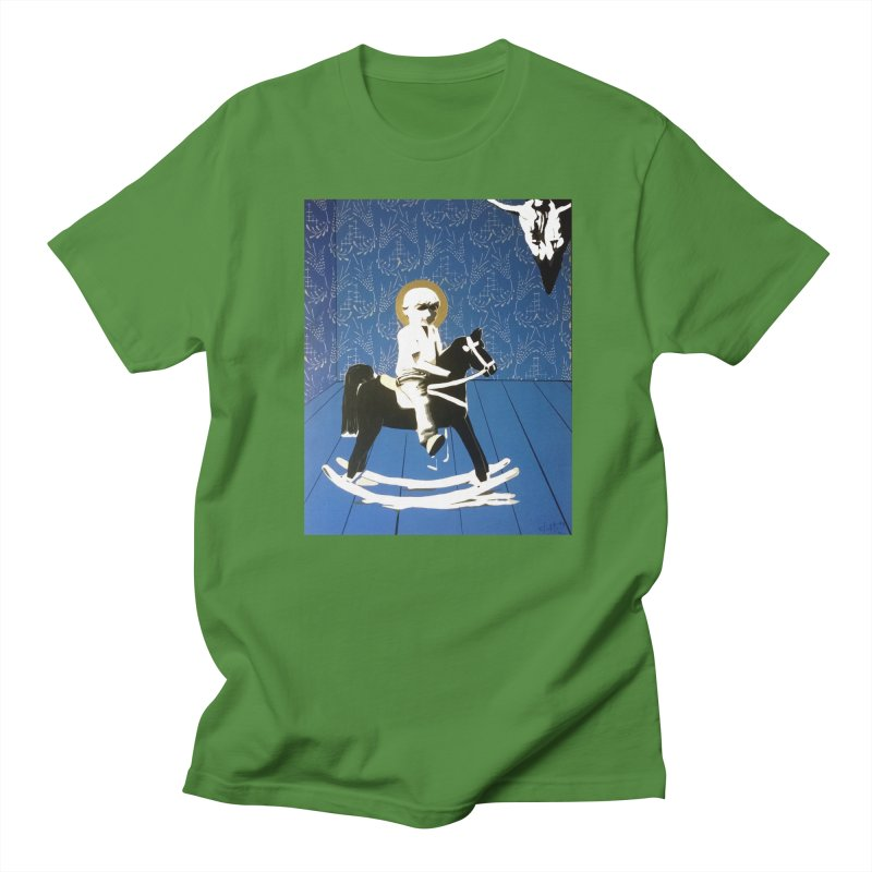 Wood Horse by Szymon K Men's Regular T-Shirt by We Wear Art Light