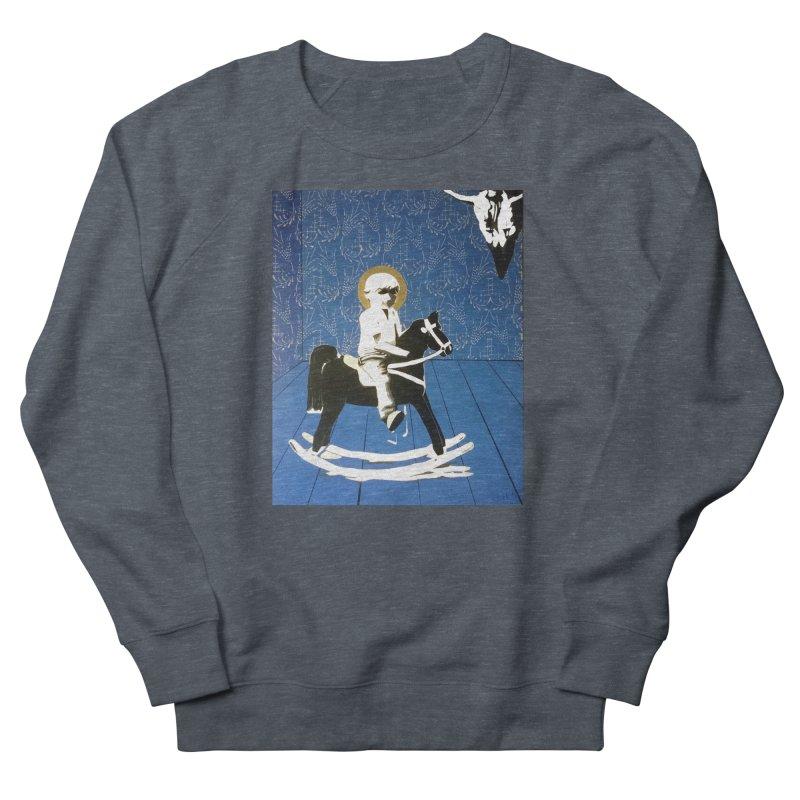 Wood Horse by Szymon K Women's Sweatshirt by We Wear Art Light