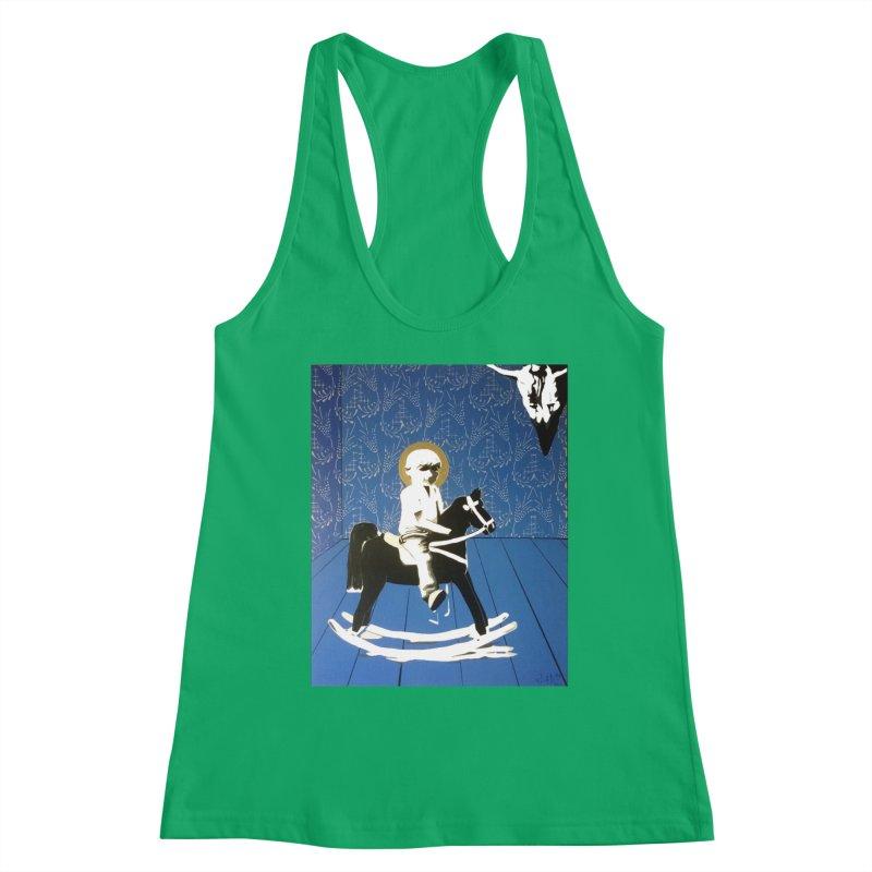 Wood Horse by Szymon K Women's Tank by We Wear Art Light