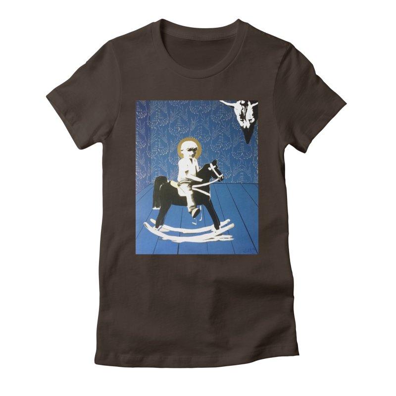Wood Horse by Szymon K Women's T-Shirt by We Wear Art Light