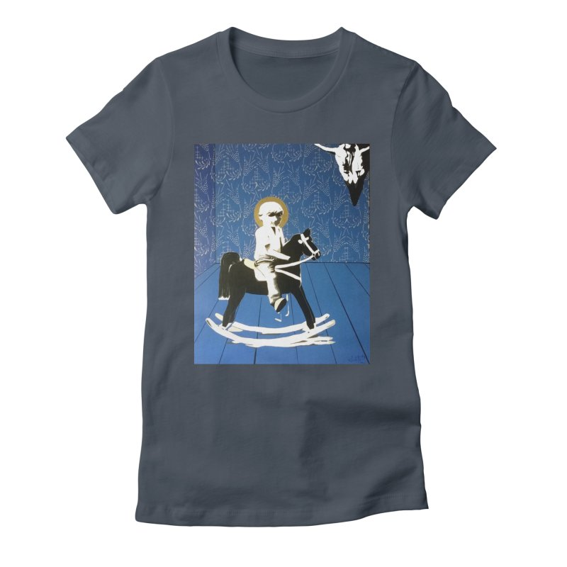 Wood Horse by Szymon K Women's T-Shirt by We Wear Art Light