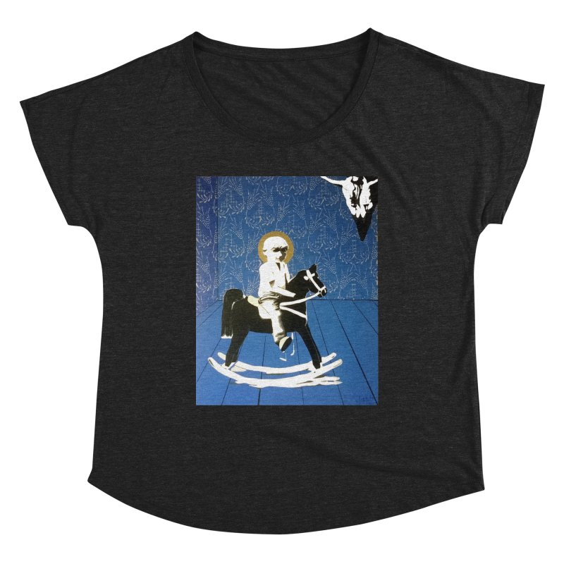 Wood Horse by Szymon K Women's Scoop Neck by We Wear Art Light