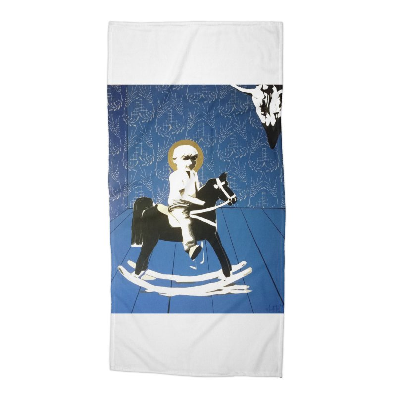 Wood Horse by Szymon K Accessories Beach Towel by We Wear Art Light