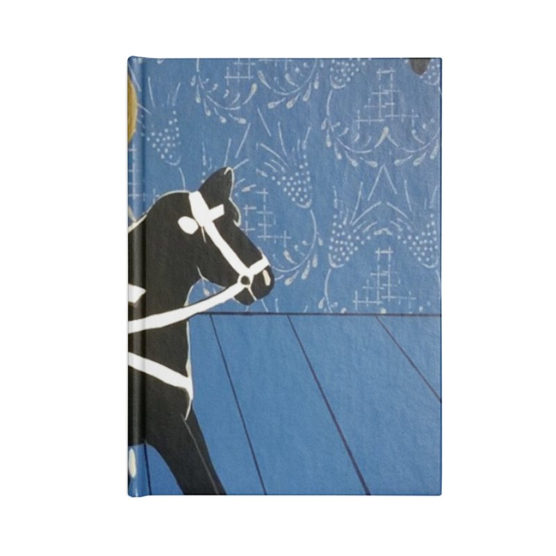 Wood Horse by Szymon K Accessories Notebook by We Wear Art Light