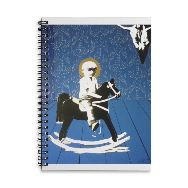 Wood Horse by Szymon K Accessories Notebook by We Wear Art Light