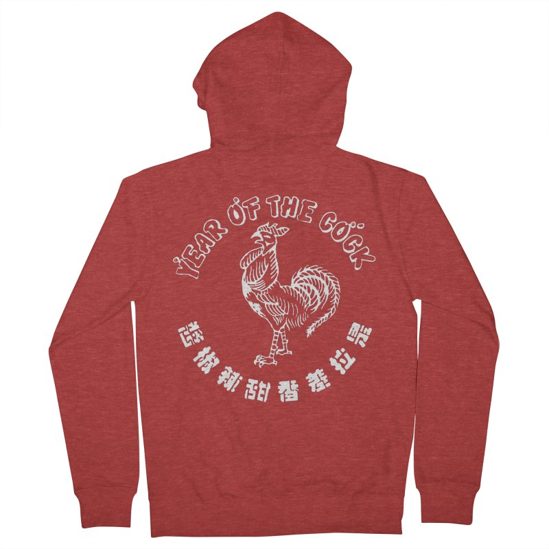 Year Of The Cock Men's French Terry Zip-Up Hoody by Westofoxley's Artist Shop