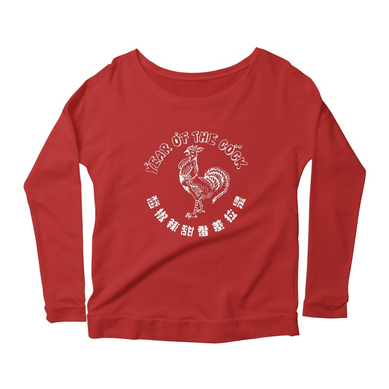 Year Of The Cock Women's Longsleeve Scoopneck  by Westofoxley's Artist Shop