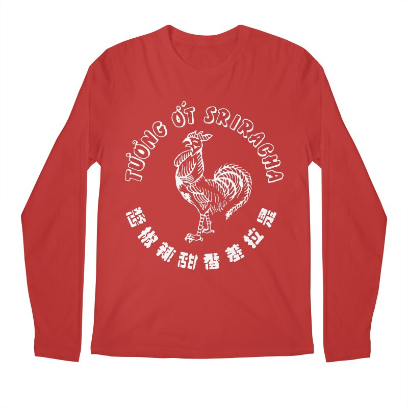 Sriracha Chilli Sauce Men's Longsleeve T-Shirt by Westofoxley's Artist Shop