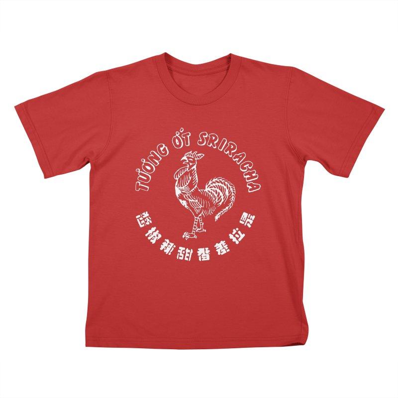 Sriracha Chilli Sauce Kids T-Shirt by Westofoxley's Artist Shop