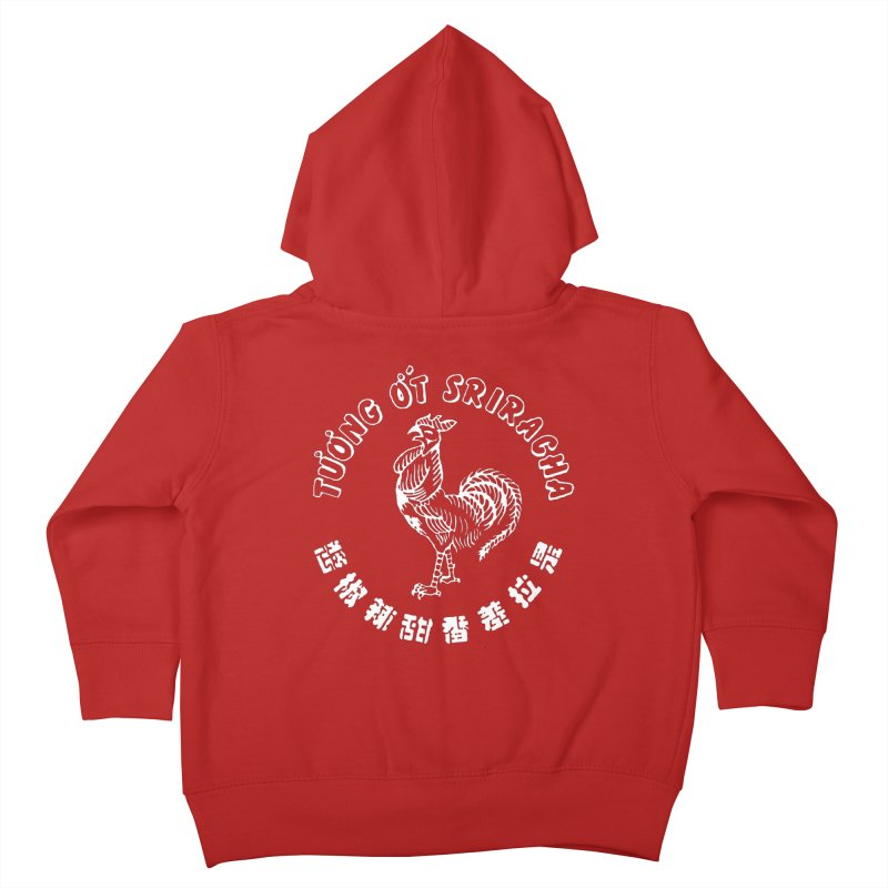 Sriracha Chilli Sauce Kids Toddler Zip-Up Hoody by Westofoxley's Artist Shop