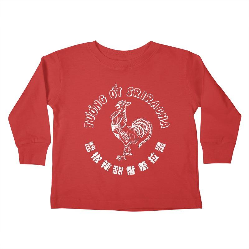 Sriracha Chilli Sauce Kids Toddler Longsleeve T-Shirt by Westofoxley's Artist Shop
