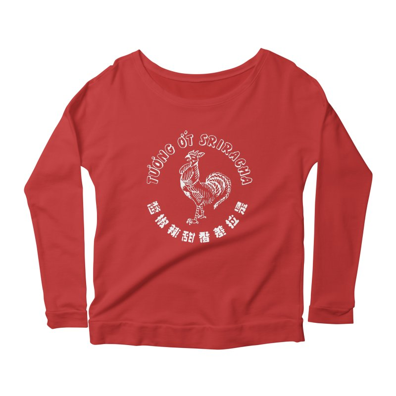 Sriracha Chilli Sauce Women's Longsleeve Scoopneck  by Westofoxley's Artist Shop