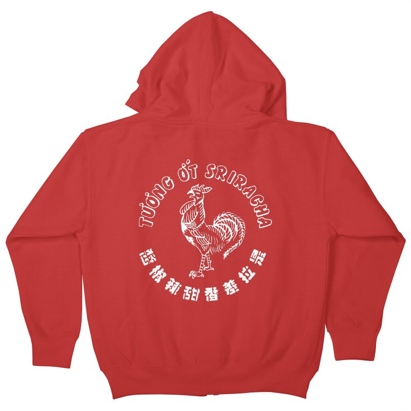 Sriracha Chilli Sauce Kids Zip-Up Hoody by Westofoxley's Artist Shop