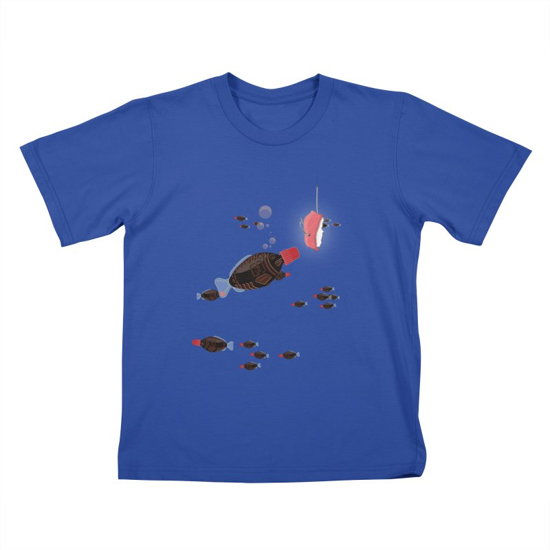 Deep Soy Fishing Kids T-shirt by Westofoxley's Artist Shop