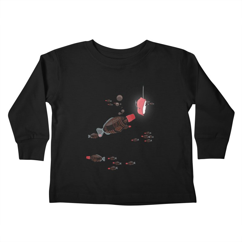 Deep Soy Fishing Kids Toddler Longsleeve T-Shirt by Westofoxley's Artist Shop
