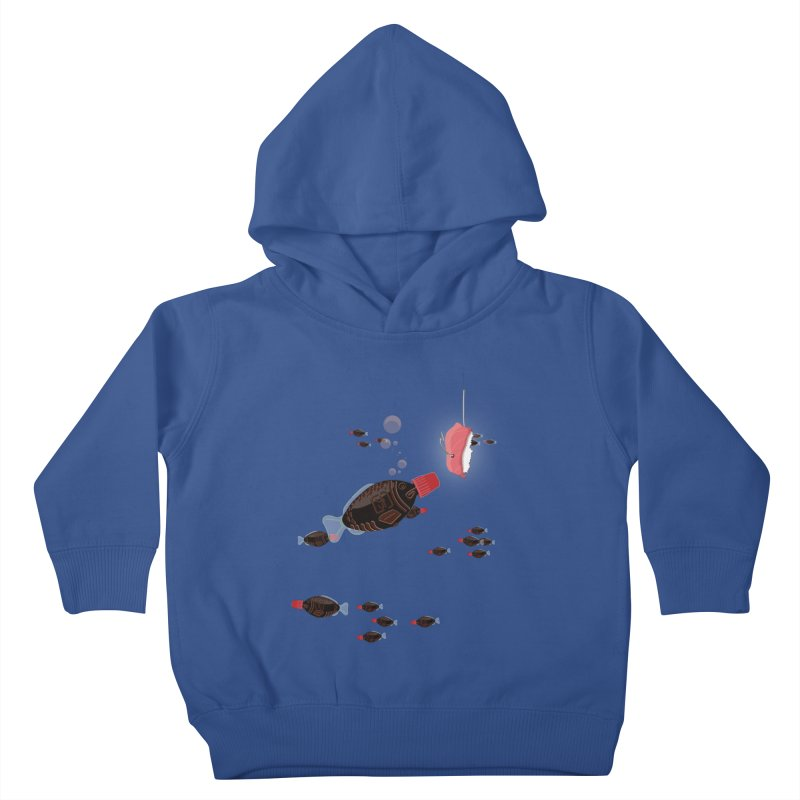 Deep Soy Fishing Kids Toddler Pullover Hoody by Westofoxley's Artist Shop
