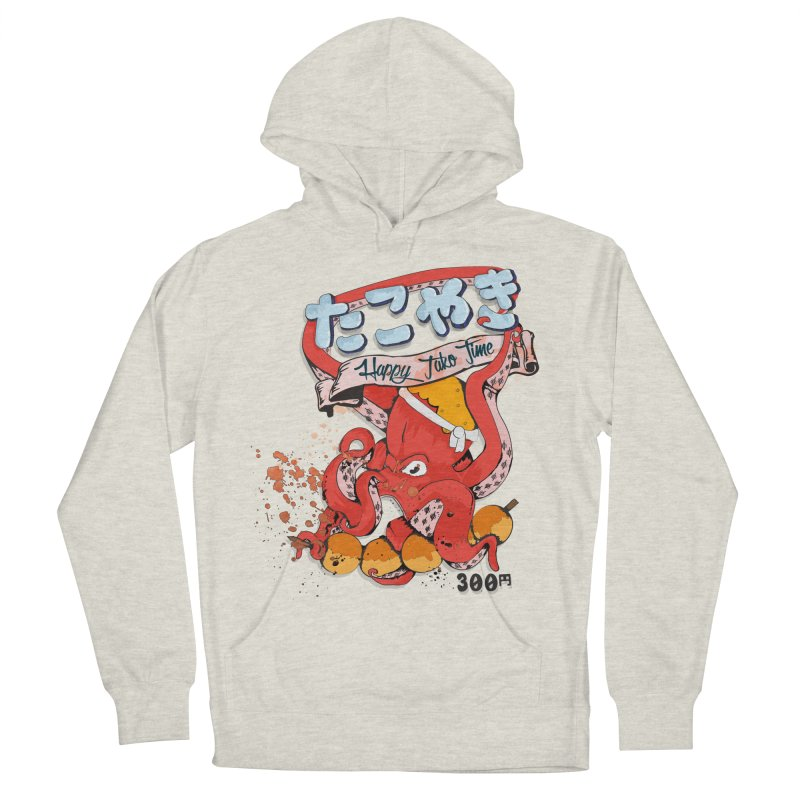 Takoyaki Time Men's French Terry Pullover Hoody by Westofoxley's Artist Shop