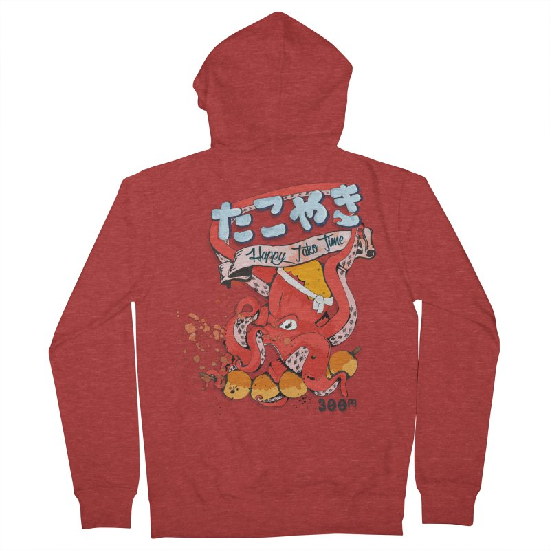 Takoyaki Time Men's French Terry Zip-Up Hoody by Westofoxley's Artist Shop