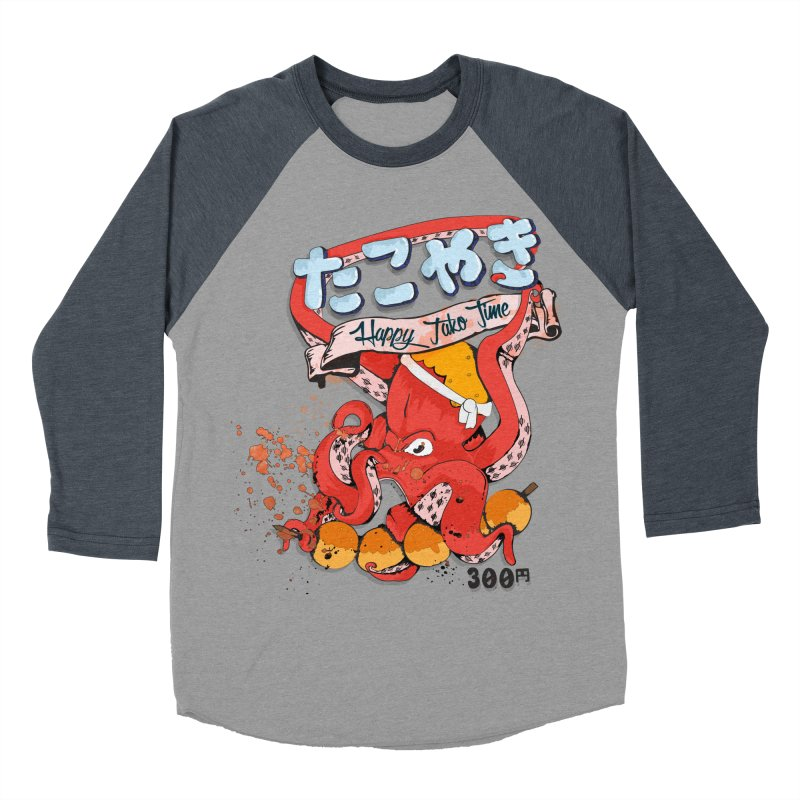 Takoyaki Time Women's Baseball Triblend T-Shirt by Westofoxley's Artist Shop