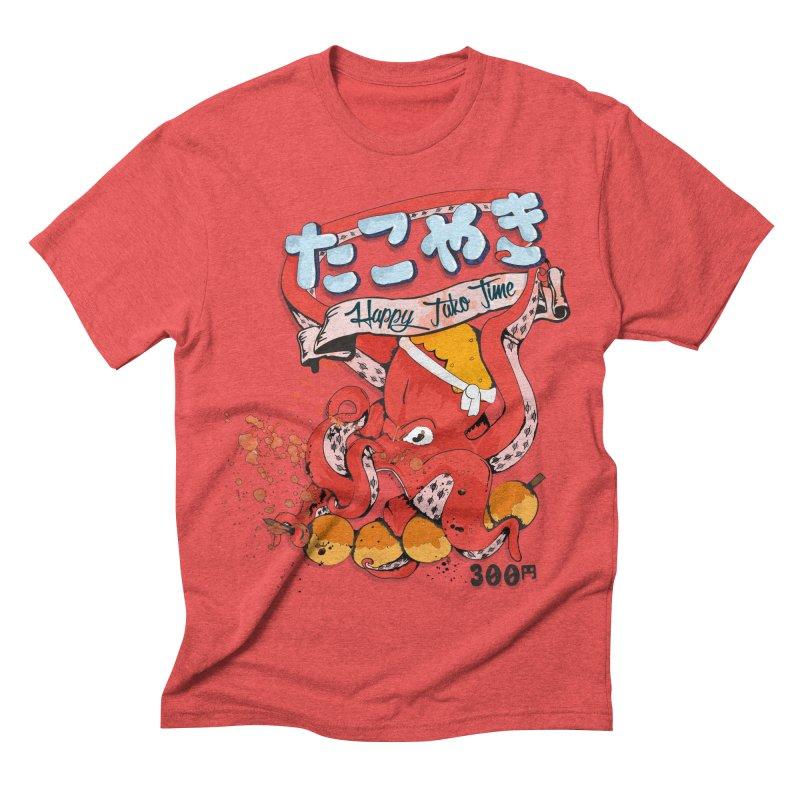 Takoyaki Time Men's Triblend T-shirt by Westofoxley's Artist Shop