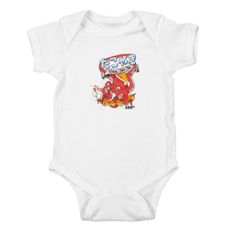 Takoyaki Time Kids Baby Bodysuit by Westofoxley's Artist Shop