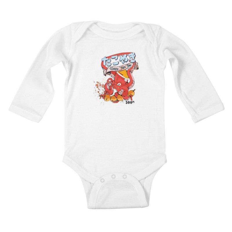 Takoyaki Time Kids Baby Longsleeve Bodysuit by Westofoxley's Artist Shop