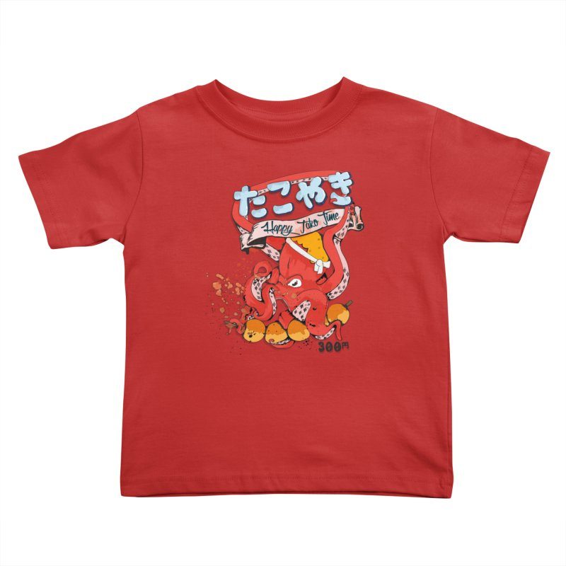Takoyaki Time Kids Toddler T-Shirt by Westofoxley's Artist Shop