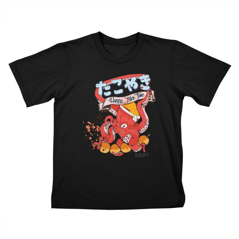 Takoyaki Time Kids T-shirt by Westofoxley's Artist Shop