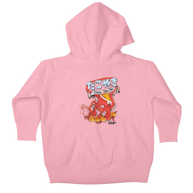 Takoyaki Time Kids Baby Zip-Up Hoody by Westofoxley's Artist Shop