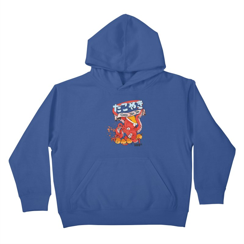 Takoyaki Time Kids Pullover Hoody by Westofoxley's Artist Shop
