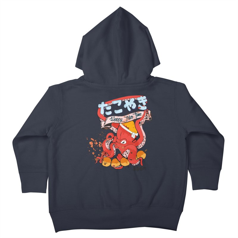 Takoyaki Time Kids Toddler Zip-Up Hoody by Westofoxley's Artist Shop