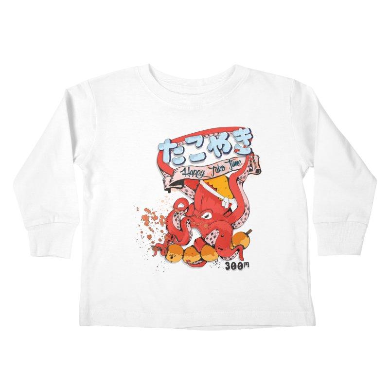 Takoyaki Time Kids Toddler Longsleeve T-Shirt by Westofoxley's Artist Shop