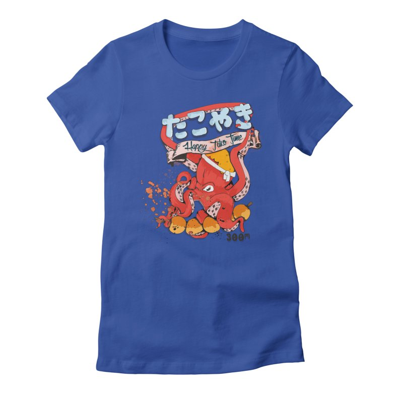 Takoyaki Time Women's Fitted T-Shirt by Westofoxley's Artist Shop