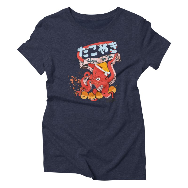 Takoyaki Time Women's Triblend T-shirt by Westofoxley's Artist Shop