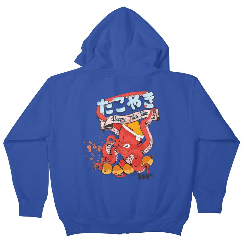 Takoyaki Time Kids Zip-Up Hoody by Westofoxley's Artist Shop
