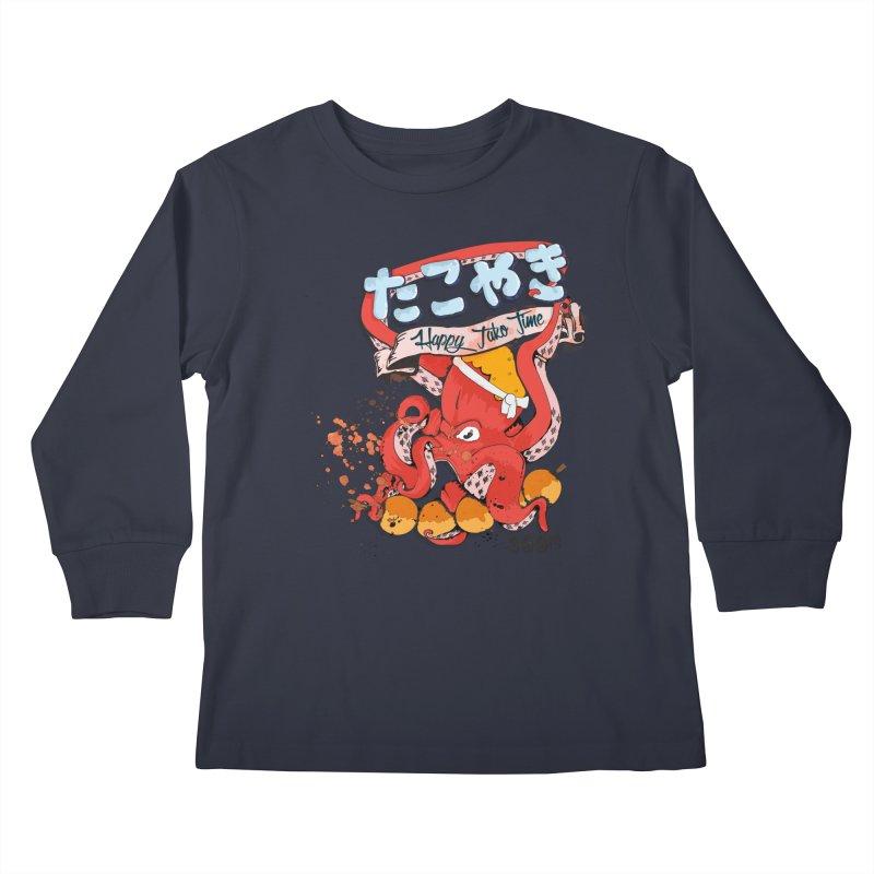 Takoyaki Time Kids Longsleeve T-Shirt by Westofoxley's Artist Shop