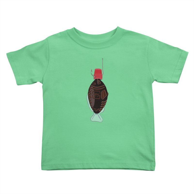 Deep Soy Caught Kids Toddler T-Shirt by Westofoxley's Artist Shop
