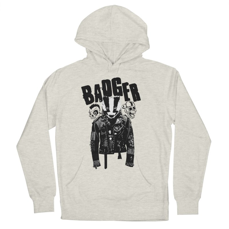 Badger Black Men's Pullover Hoody by Westofoxley's Artist Shop