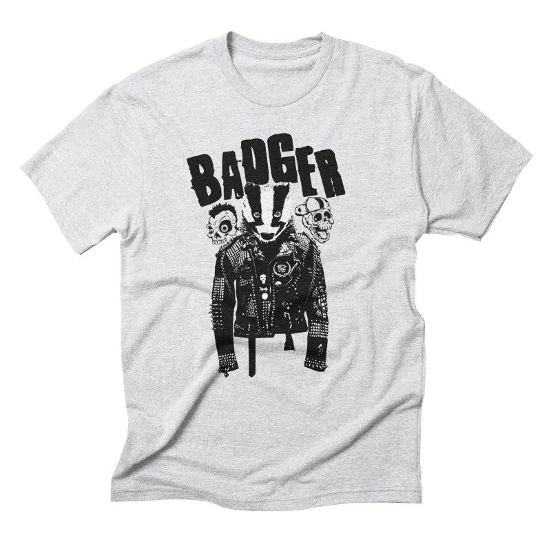 Badger Black Men's Triblend T-Shirt by Westofoxley's Artist Shop