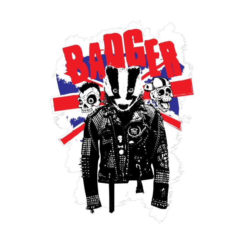 Punk Badger UK by Westofoxley's Artist Shop