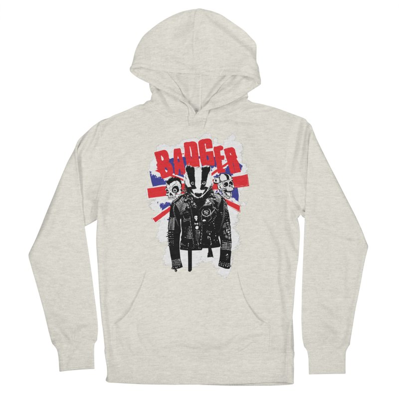 Punk Badger UK Men's French Terry Pullover Hoody by Westofoxley's Artist Shop
