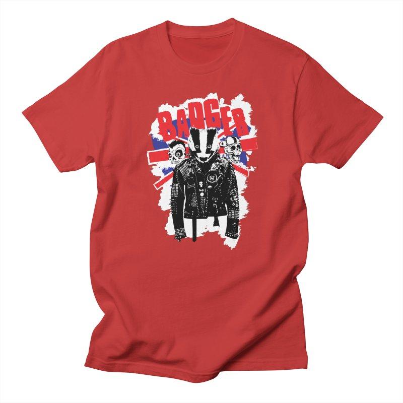 Punk Badger UK Women's Unisex T-Shirt by Westofoxley's Artist Shop