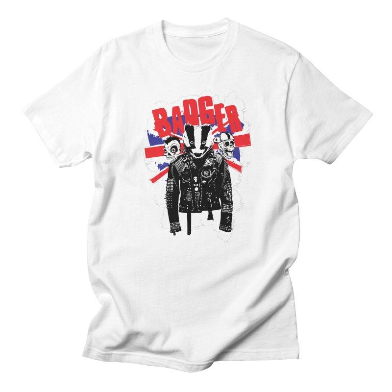 Punk Badger UK Women's Regular Unisex T-Shirt by Westofoxley's Artist Shop