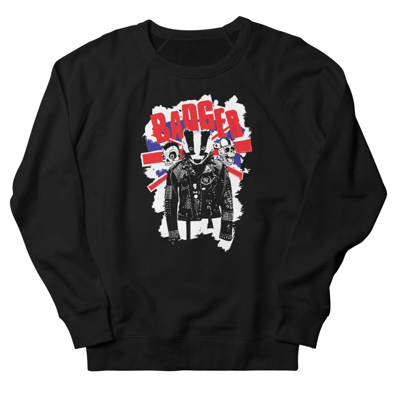 Punk Badger UK Women's French Terry Sweatshirt by Westofoxley's Artist Shop