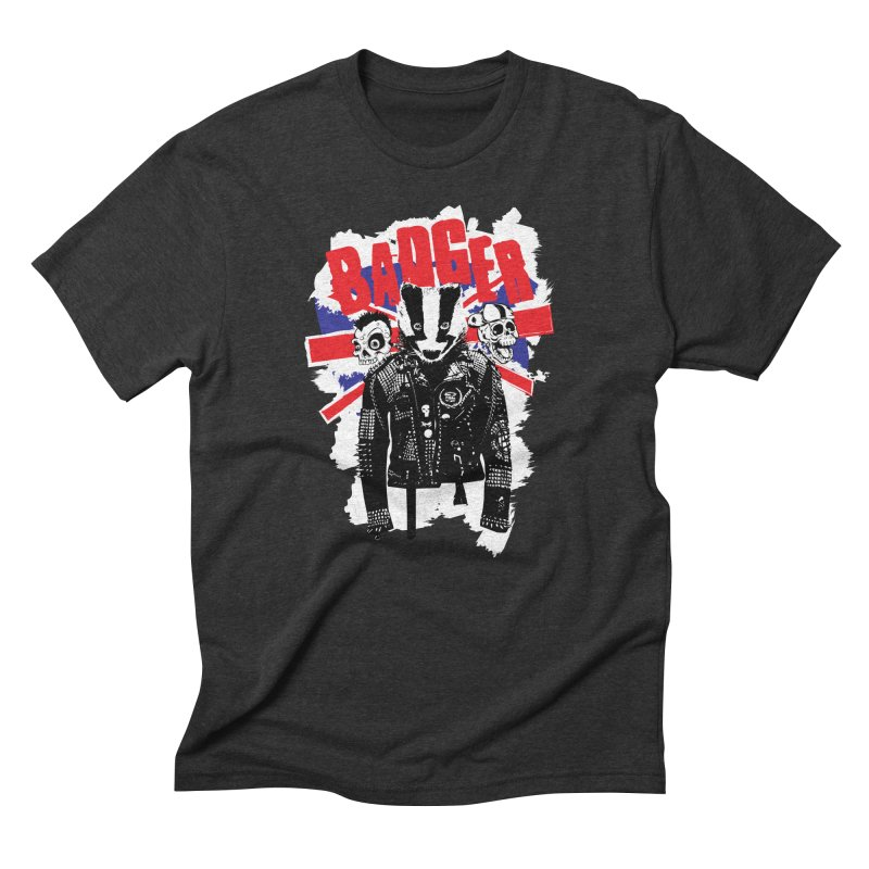 Punk Badger UK Men's Triblend T-Shirt by Westofoxley's Artist Shop