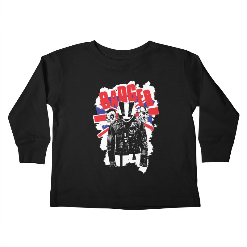 Punk Badger UK Kids Toddler Longsleeve T-Shirt by Westofoxley's Artist Shop