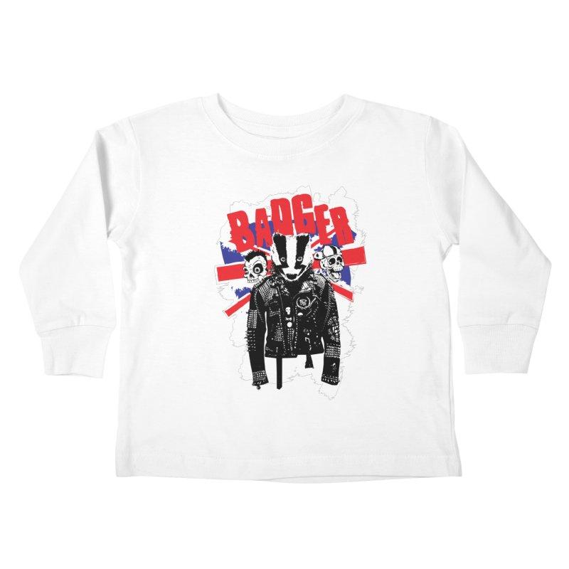 Punk Badger UK Kids Toddler Longsleeve T-Shirt by Westofoxley's Artist Shop