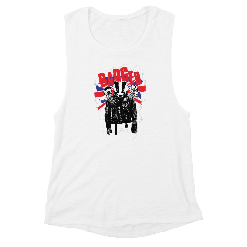 Punk Badger UK Women's Muscle Tank by Westofoxley's Artist Shop