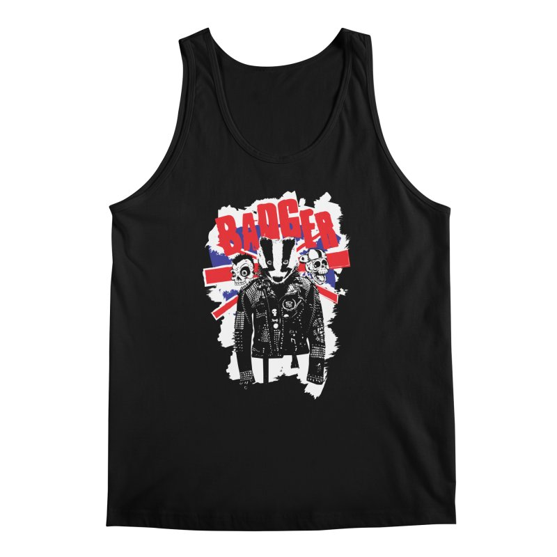 Punk Badger UK Men's Tank by Westofoxley's Artist Shop