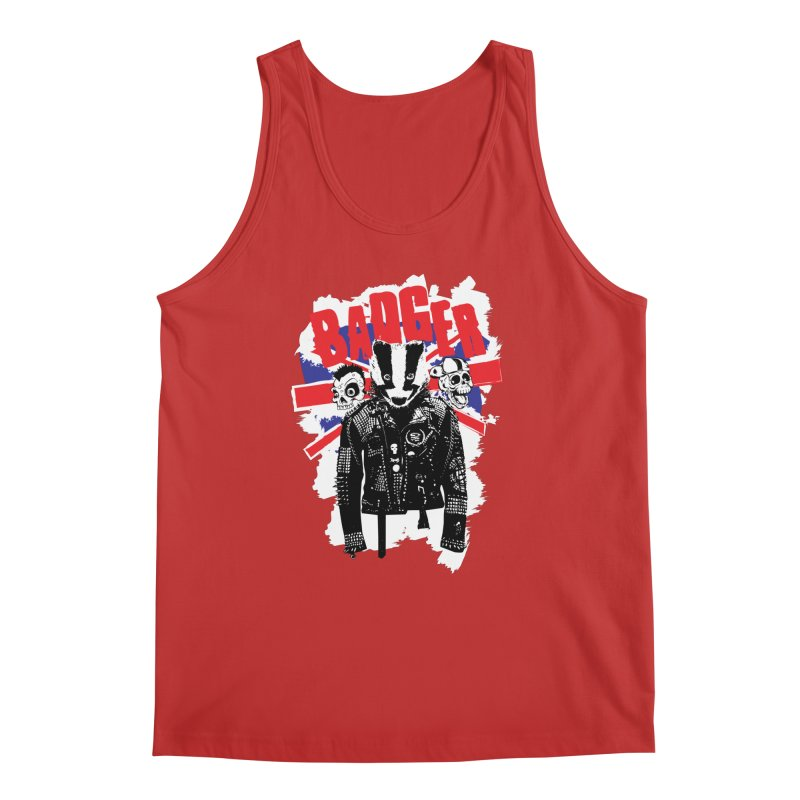 Punk Badger UK Men's Regular Tank by Westofoxley's Artist Shop